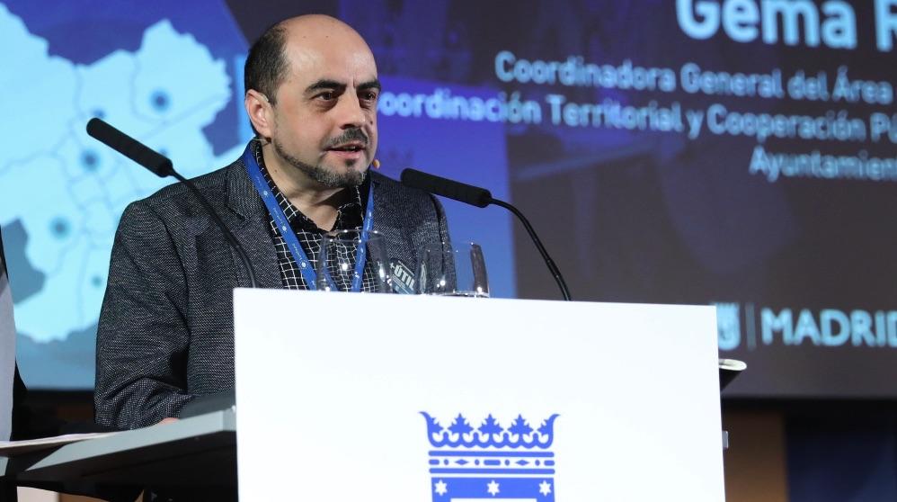 El gerente de la ciudad y responsable de los trabajadores, Eloy Cuéllar. (Foto. Madrid)