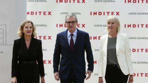 Flora Pérez, Pablo Isla y Denise Patricia Kingmill (Foto. Inditex)