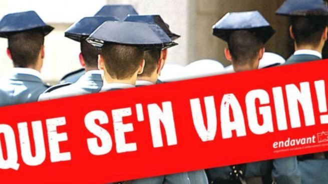 Campaña contra la Guardia Civil (Foto:Twitter)