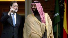 El presidente del Gobierno, Mariano Rajoy, durante la recepción al príncipe heredero de Arabia Saudí, Mohamed Bin Salman Bin Abdulaziz Al Saud, esta tarde en el Palacio de la Moncloa en Madrid. Foto: EFE