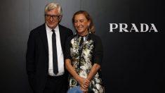 Miuccia Prada y Patrizio Bertelli, CEO y marido. (Foto. Getty)