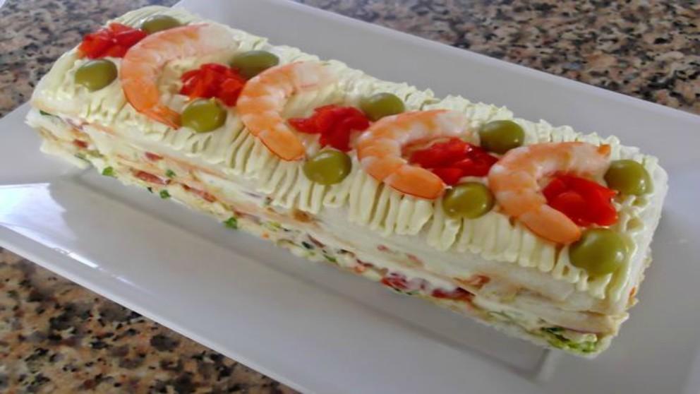 Receta de pionono de atún fácil, fresco y delicioso paso a paso