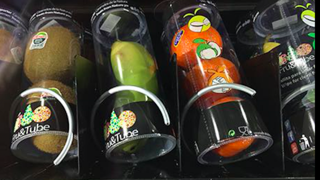 Fru&Tube: un vending con snacks saludables ya es una realidad