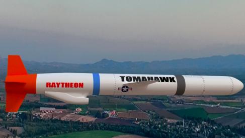 Uno de los misiles tomahawk de Rayhteon.