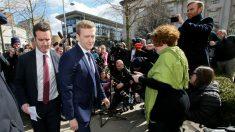 Stuart Olding, entrenado a los juzgados antes del juicio. (AFP)