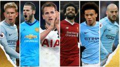 Los candidatos a jugador del año en Inglaterra.