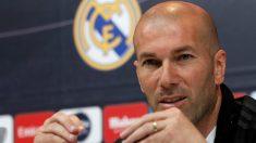 Zidane, en una rueda de prensa. (EFE)
