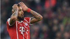 Arturo Vidal, durante un partido con el Bayern. (AFP)