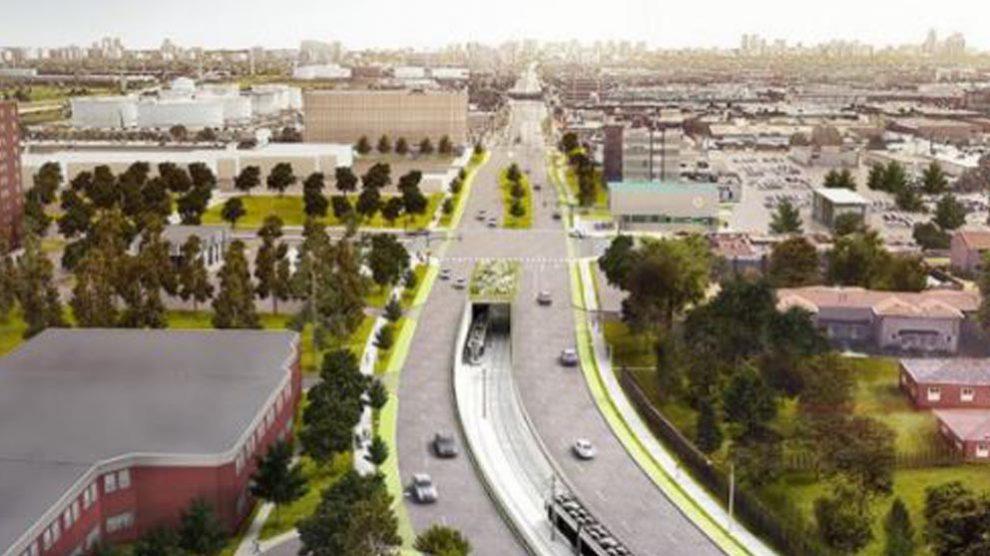 Futuro metro ligero en Finch West, Toronto (Canadá)