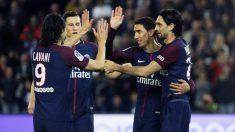 Los jugadores del PSG celebran un gol. (AFP)