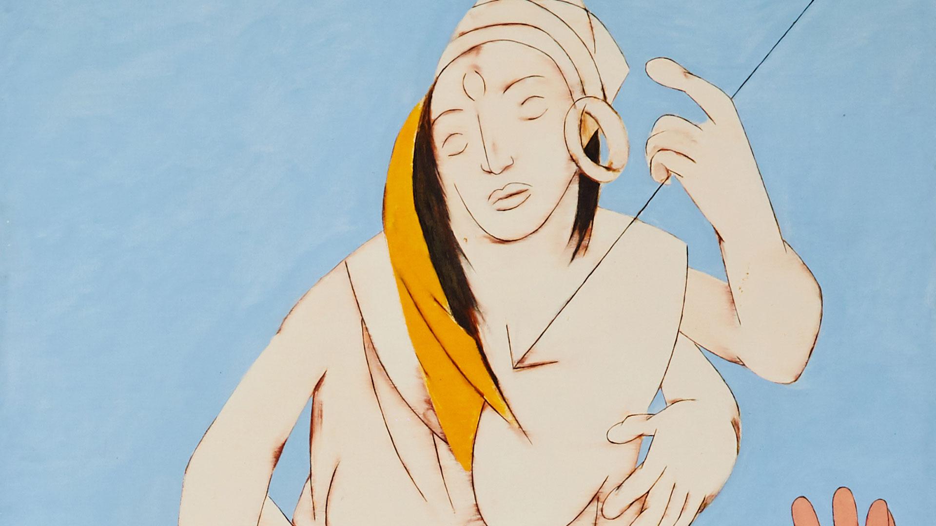 Durga Mahishasura Mardini del artista tyeb Mehta (Foto. Sotheby's)