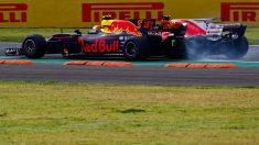 Max Verstappen y Sebastian Vettel. (Getty)