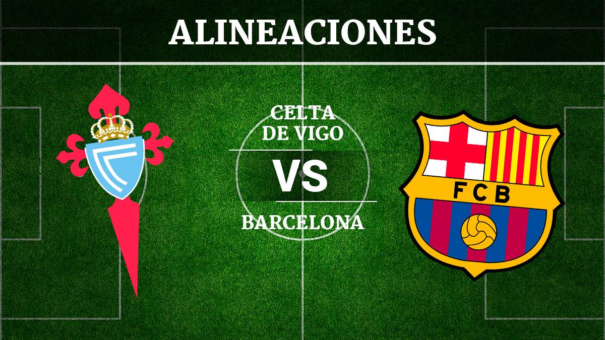 Consulta las posibles alineaciones del Celta de Vigo vs Barcelona.