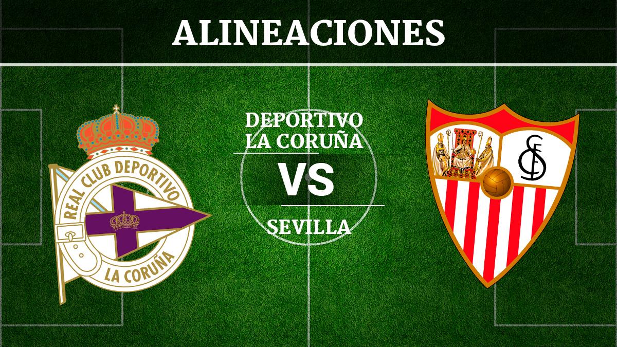 Consulta las posibles alineaciones del Deportivo de la Coruña vs Sevilla.