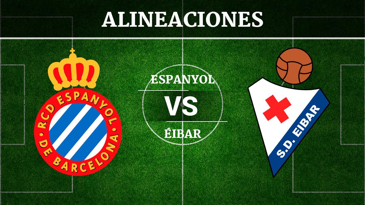 Consulta las posibles alineaciones del Espanyol vs Éibar.