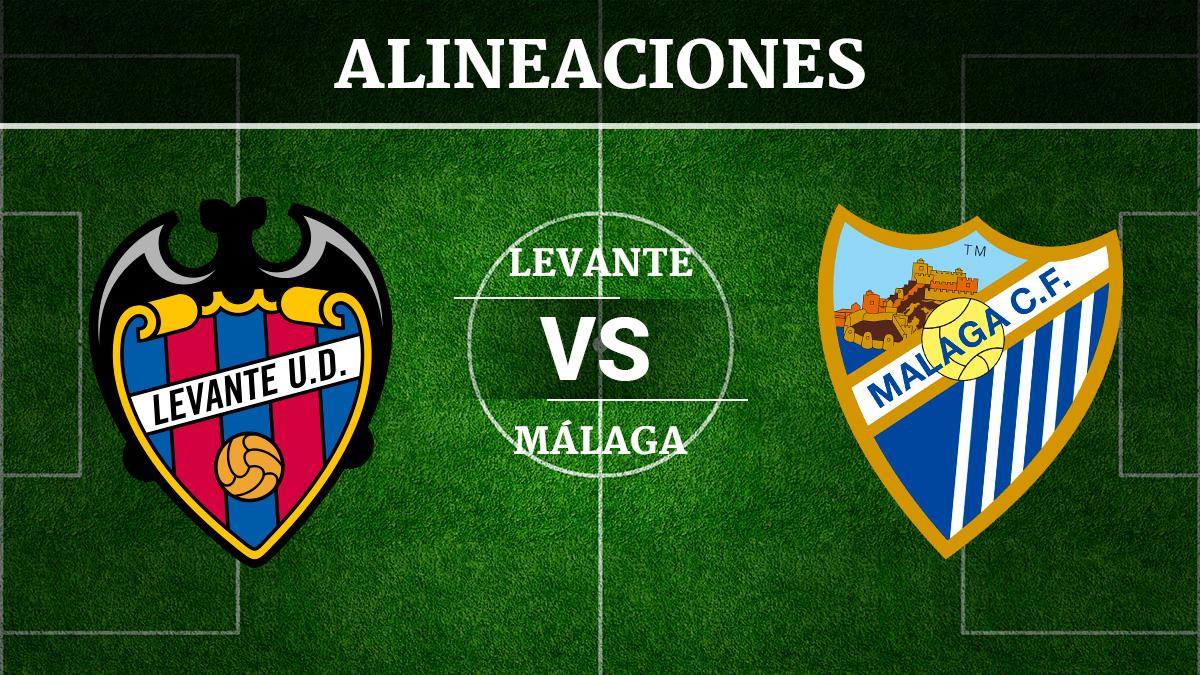 Consulta las posibles alineaciones del Levante vs Málaga.