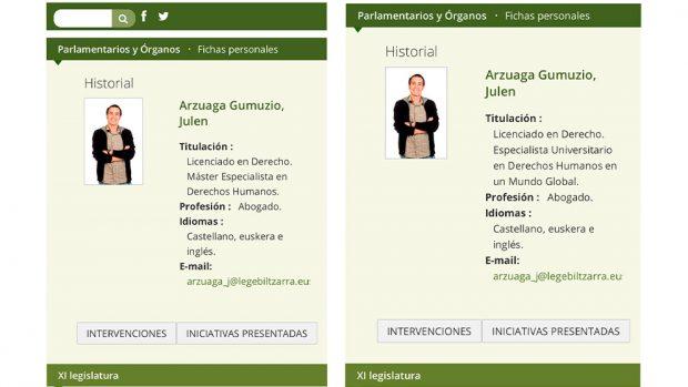 Ficha de Arzuaga antes y después