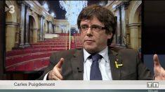 Carles Puigdemont entrevistado en TV3.