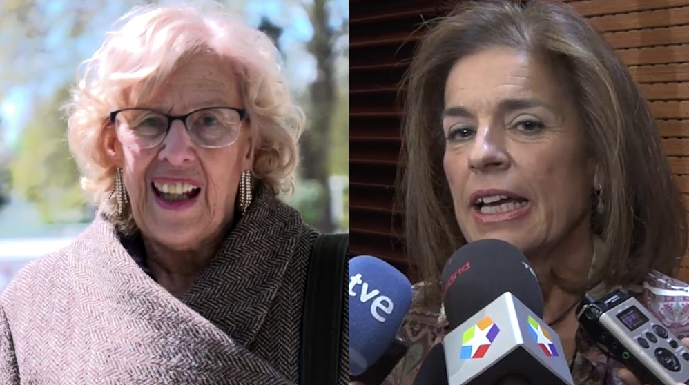 La alcaldesa Manuela Carmena y su predecesora Ana Botella. (Fotos. Madrid)