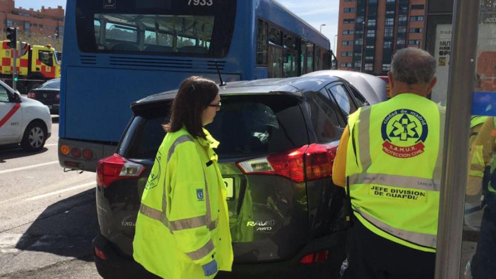 Acciente en Ciudad Lineal (Foto: Emergencias Madrid)