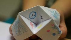 Todos los pasos para hacer un comecocos de papel.