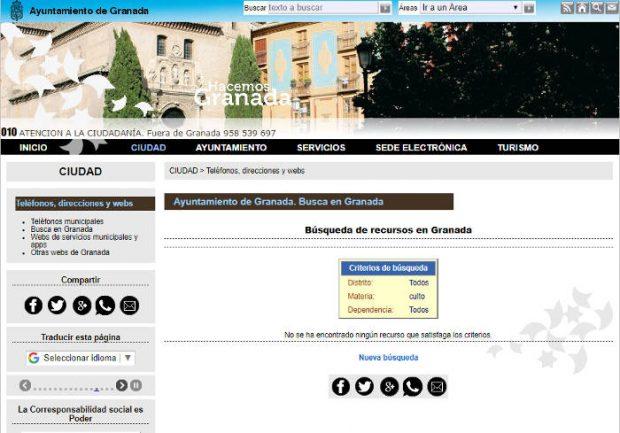 Web ayuntamiento de Granada