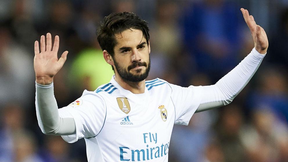 Isco, en el partido contra el Málaga. (Getty)