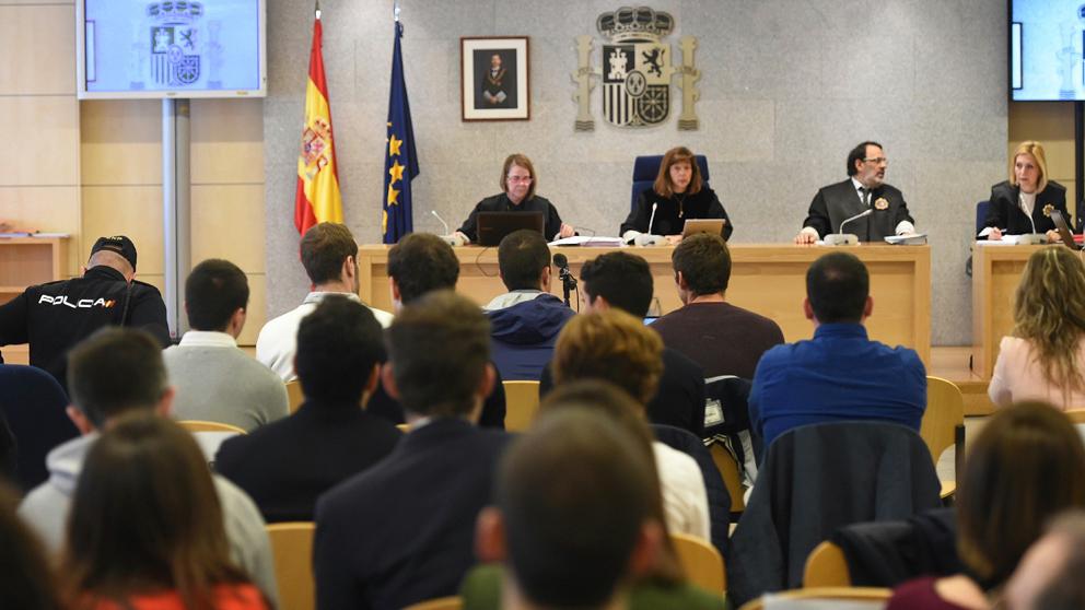 Juicio a los agresores de Alsasua en la Audiencia Nacional. (Foto: EFE)