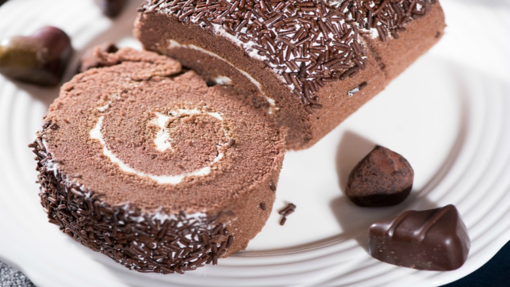 Receta de pionono de chocolate.