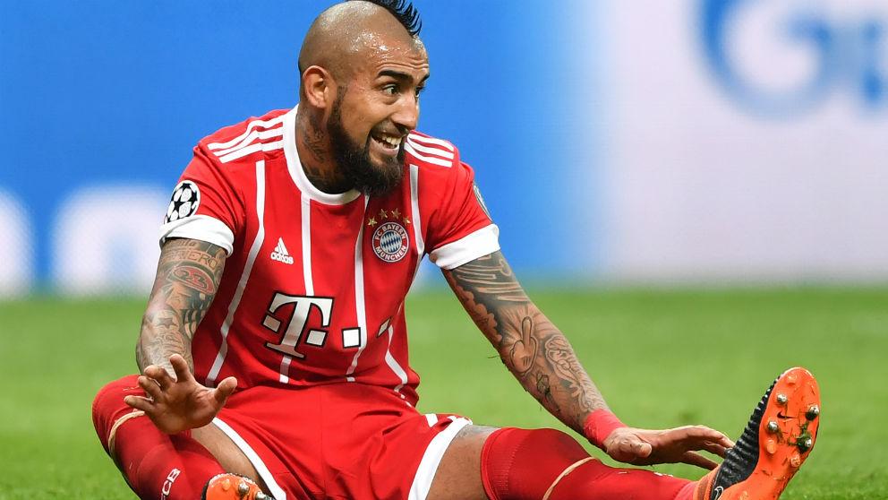 Arturo Vidal, en un partido con el Bayern de Múnich. (AFP)