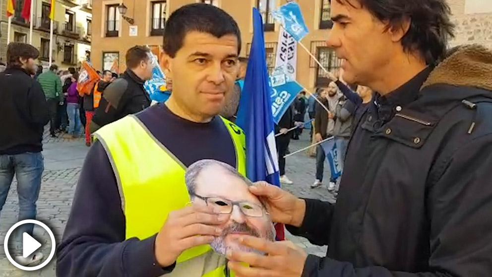 Concentración de Agentes de la Policía Municipal para protestar contra la «desidia» del delegado de Salud, Seguridad y Emergencias, Javier Barbero