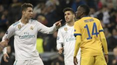 Cristiano Ronaldo y Matuidi se encaran en el pasado Real Madrid – Juventus. (AFP)