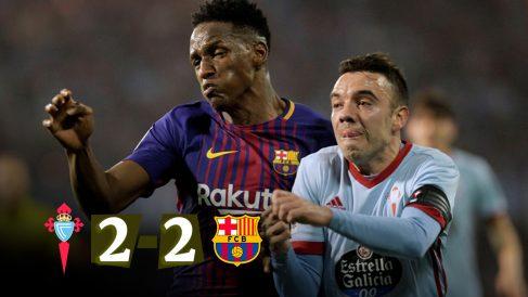 El Celta y el Barcelona empataron en Balaídos.