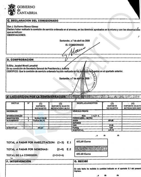 Revilla gastó 7.145 € públicos en pagar a su jefe de gabinete un máster en elecciones