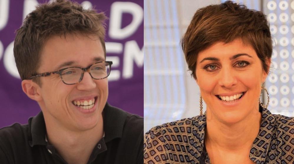 Íñigo Errejón y Lorena Ruiz-Huerta. (Fotos. Podemos)