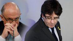 Cristóbal Montoro y Carles Puigdemont