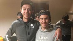 Manuel Pagliani compartió esta imagen con Valentino Rossi en sus redes sociales.