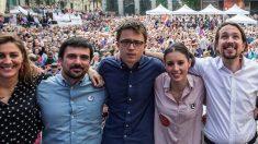 Ruiz-Huerta, Espinar, Errejón, Montero e Iglesias. (Foto. Podemos)