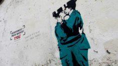 El graffiti que lleva firma de Banksy aparecido en Ferrol