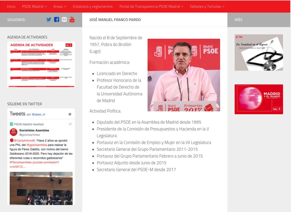 El nº 2 de Gabilondo nombró a Franco profesor honorario de la Autónoma siendo jefe de campaña de Sánchez
