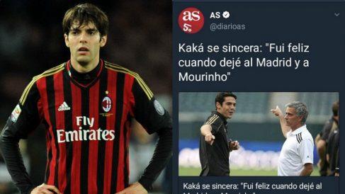 Ricardo Kaká y el tuit que borró el diario As.