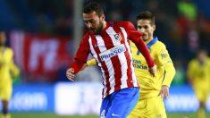 Keidi Bare, durante un partido con el Atlético de Madrid. (Getty)