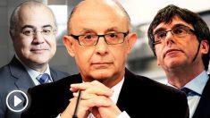 Cristóbal Montoro, Carles Puigdemont y Pablo Llarena