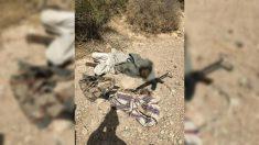 Imagen distrubuida por el Ejército egipcio del que dicen es el cadáver de Naser Abu Zakul, líder del ISIS en el Sinaí.