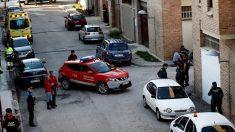 Policía en Olite, Navarra (Foto: AFP)