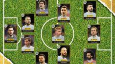 El mejor once de esta temporada en la Premier League. (PFA)