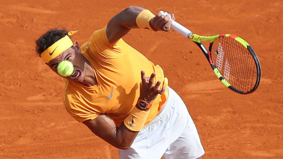 Rafa Nadal ganó a Bedene en su primer partido en Montecarlo. (AFP)
