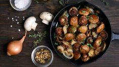 Receta de níscalos con patatas.