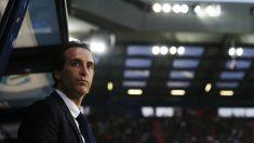 Emery, durante un partido del PSG el año pasado. (AFP)