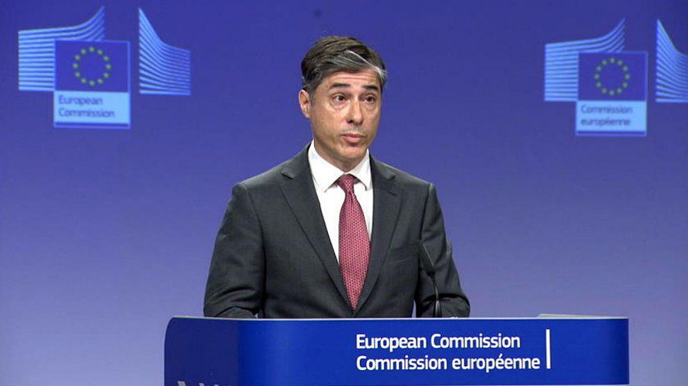 Carlos Martín Ruiz de Gordejuela, portavoz de la Comisión Europea.